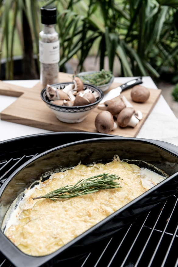 Kartoffelauflauf auf Gasgrill