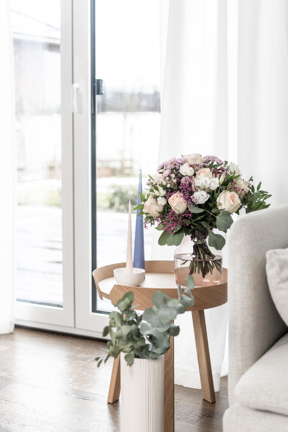 Frische Blumen im Januar