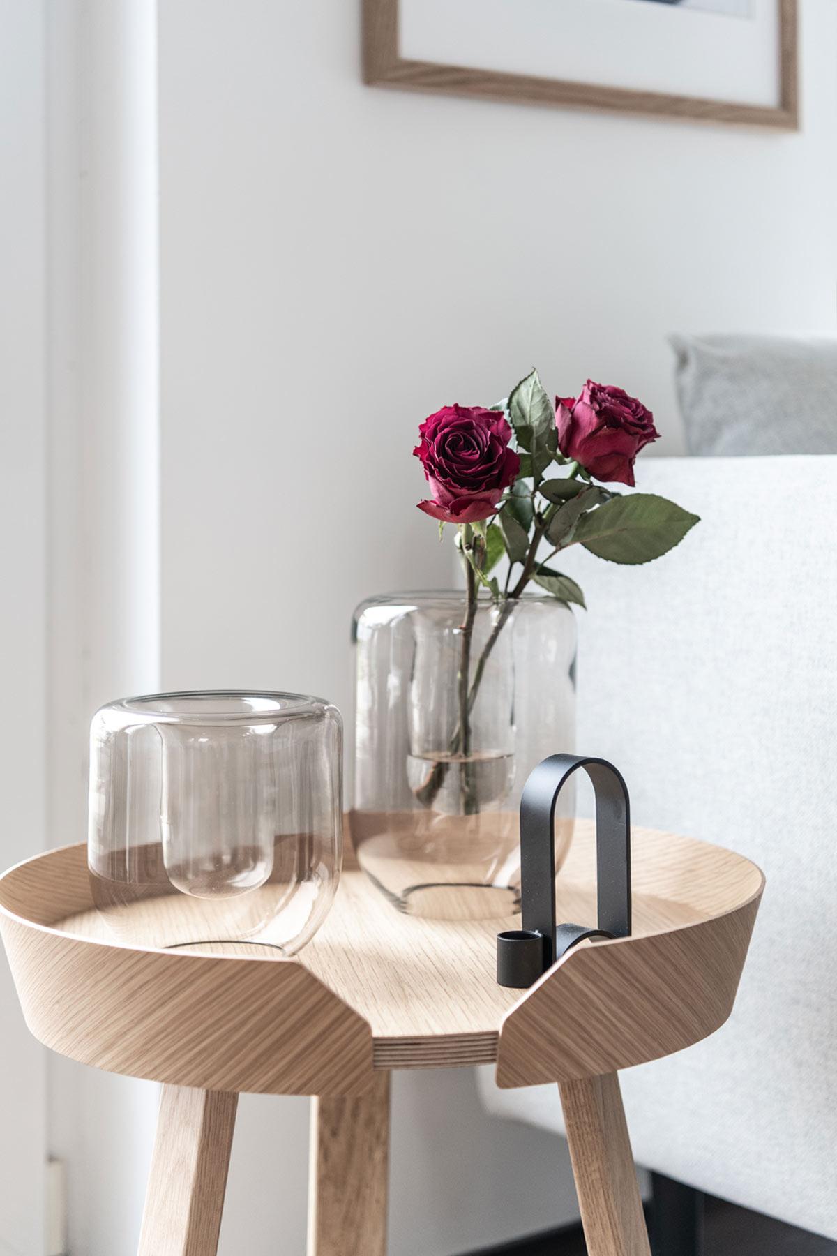 Rosen in einer Glasvase